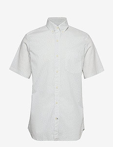 Lived-In Stretch Poplin Short Sleeve Shirt - basic shirts - tiny dots milk