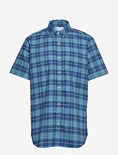 Lived-In Stretch Oxford Short Sleeve Shirt - BLUE/MULTI