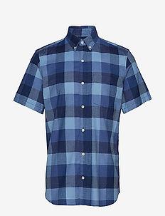 Lived-In Stretch Oxford Short Sleeve Shirt - INDIGO CHECK