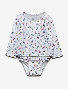 Baby Print Rashguard Swim Set - maillots 1 pièce - optic white