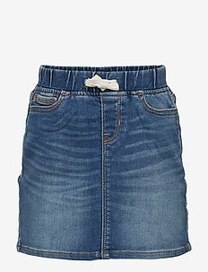 Kids Denim Pull-On Skirt - jupes - dark indigo