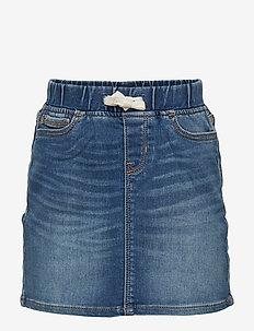 Kids Denim Pull-On Skirt - nederdele - dark indigo