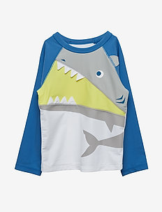 Toddler 3d Graphic Raglan Rashguard - uv-toppe - optic white