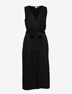 Cropped Wide-Leg Jumpsuit in Modal - wrap dresses - true black v2 2
