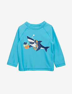 Toddler Graphic Raglan Rashguard - uv tops - atlantis blue