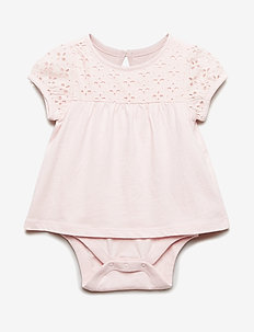 Baby Eyelet Body Double - SPRING PINK