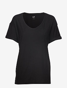 Soft Slub Relaxed Crewneck T-Shirt - TRUE BLACK V2