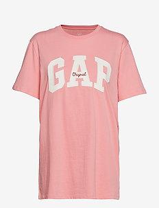 Gap Logo Crewneck T-Shirt - CORAL FROST
