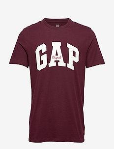 Gap Logo Crewneck T-Shirt - PINOT NOIR 796