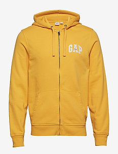 Gap Logo Full-Zip Hoodie - STARLIGHT GOLD 545