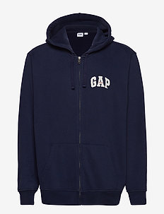 Gap Logo Full-Zip Hoodie - TAPESTRY NAVY