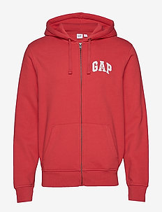 Gap Logo Full-Zip Hoodie - WEATHERED RED