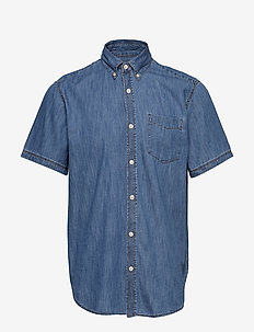 Wearlight Denim Short Sleeve Shirt - MEDIUM INDIGO 8