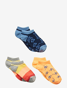 Kids Print No-Show Socks (3-Pack) - MULTI