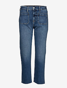 High Rise Mariner Cheeky Straight Jeans - MEDIUM INDIGO 13