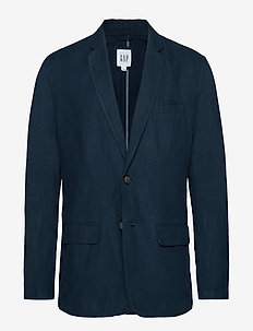 Casual Classic Blazer in Linen-Cotton - single breasted blazers - true navy v2