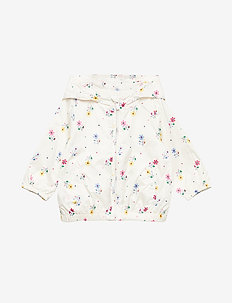 Toddler Print Windbuster - WHITE FLORAL PRINT