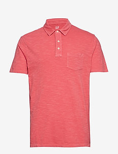 Vintage Slub Jersey Polo Shirt - WEATHERED RED