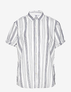 SS ROLL CUFF SHIRT YD - THINK/THIN BLUE STRIPE