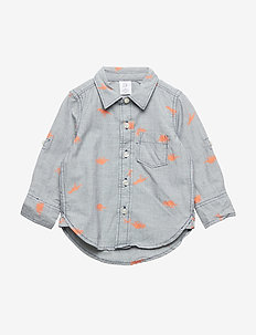 Toddler Poplin Convertible Long Sleeve Shirt - ELYSIAN BLUE