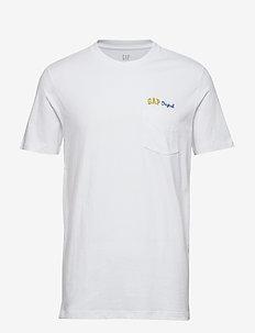 Gap Original Logo Pocket T-Shirt - OPTIC WHITE
