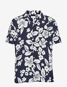Print Camp Shirt - NAVY FLORAL