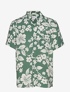 Print Camp Shirt - STEM GREEN FLORAL
