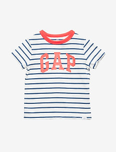 Toddler Gap Logo Short Sleeve T-Shirt - BLUE STRIPE