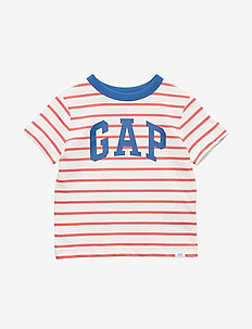 Toddler Gap Logo Short Sleeve T-Shirt - RED STRIPE GAP