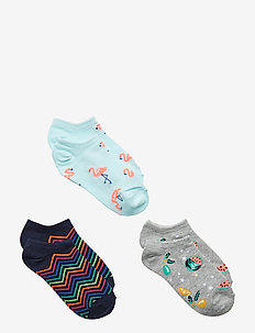 Kids Print No-Show Socks (3-Pack) - BALLERINA BLUE
