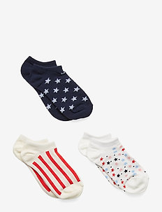 Kids Print No-Show Socks (3-Pack) - NAVY UNIFORM
