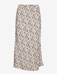 Print Midi Skirt - jupes midi - multi floral dk indigo