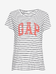 Gap Logo Stripe Crewneck T-Shirt - NAVY STRIPE
