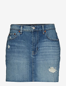 V-5PKT MINI SKIRT MED MOSCATO - MEDIUM WASH