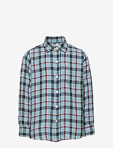 LS DBLWV - BLUE GREEN PLAID
