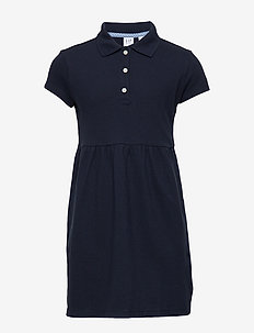 Kids Uniform Short Sleeve Polo Dress - kjoler - true indigo 340