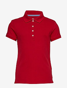 UNI SS POLO - RUBY RED