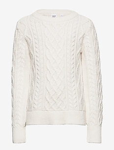 Kids Cable-Knit Sweater - habits tricotés - ivory frost