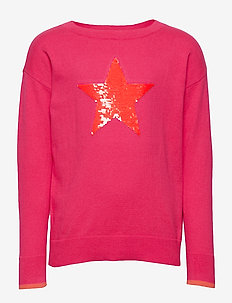 Kids Flippy Sequin Sweater - habits tricotés - jelly bean pink