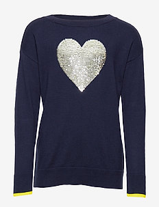 Kids Flippy Sequin Sweater - habits tricotés - navy uniform