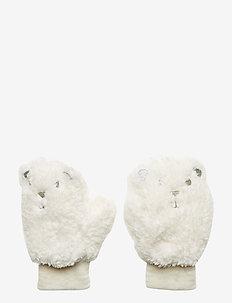 Toddler Sherpa Polar Bear Mittens - gants - ivory frost