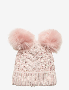 Toddler Cable-Knit Pom Beanie - PINK STANDARD