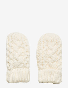 Toddler Cable-Knit Mittens - IVORY FROST