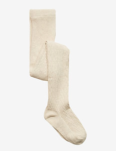 Toddler Bear Cable-Knit Tights - OATMEAL HEATHER B0281