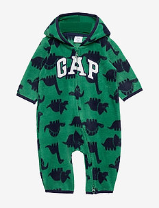 Baby Gap Logo Print One-Piece - manches longues - president green