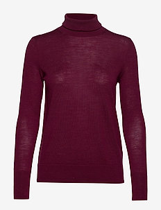 Turtleneck Sweater in Merino Wool - BOYSENBERRY JUICE