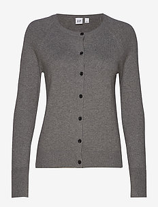 Cardigan Sweater - MED HEATHER GREY