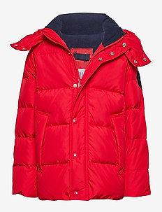 DWN WRMST JKT - puffer & padded - pure red v2