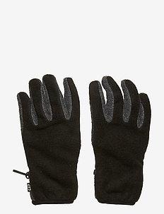 Kids Fleece Gloves - TRUE BLACK V2