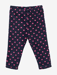 Baby Print Fleece Pull-On Pants - NAVY UNIFORM